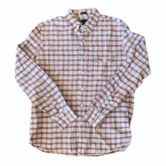 J. Crew Linen Button Down Shirt Slim Fit size large